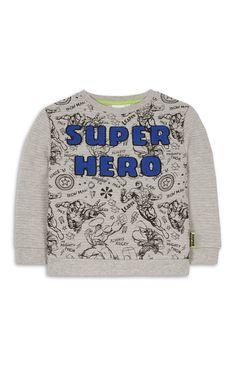 Primark - Grey Super Hero Jumper
