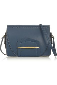Nina Ricci Small leather and suede shoulder bag | THE OUTNET