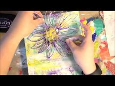 #LoveSpringArt Recycled box into mixed media art - YouTube