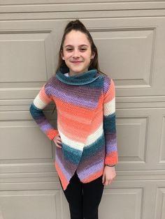 Blanket Cardigan for children - free crochet pattern