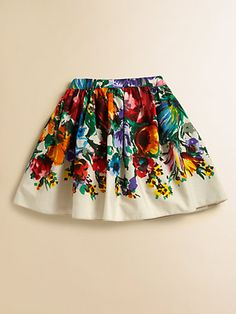 Dolce & Gabbana - Toddler's & Little Girl's Floral Cotton Skirt