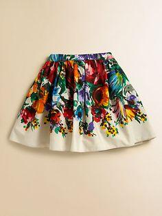 Dolce & Gabbana - Toddler's & Little Girl's Floral Cotton Skirt