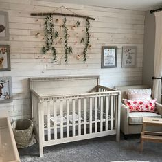 Baby Girl Nursery - Baby Girl Nursery - See more from this shop on Etsy, a global marketplace of creative businesses. Girl Nursery Colors, Baby Girl Nursery Themes, Chic Nursery, Rustic Nursery, Nursery Neutral, Nursery Ideas, Nursery Modern, Nursery Decor, Rustic Baby
