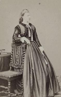 Princess Amalie of Saxe Coburg and Gotha, later Duchess in Bavaria. Late 1860s.