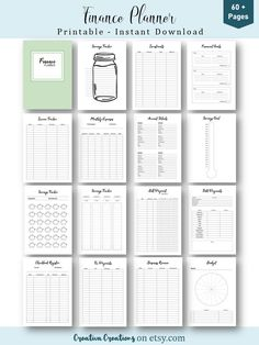 Weekly Meal Planner Template, Monthly Budget Planner, Budget Binder, Financial Planner, Printable Planner, Monthly Budget Printable, Savings Planner, Budget Planning Printables, Free Printables