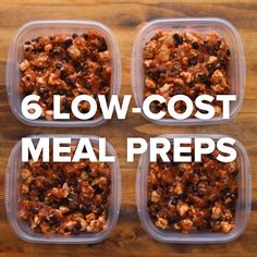 6 Low-Cost Meal Preps - Healthy meal prep on a budget Lunch Meal Prep, Easy Meal Prep, Healthy Meal Prep, Healthy Snacks, Healthy Recipes, Delicious Recipes, Diet Snacks, School Lunch Prep, Budget Meal Prep