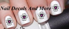 #COUPON CODE PINIT AND SAVE 10% OFF 50 pc of army wife waterslide nail decals by NailDecalsAndMore, $3.00