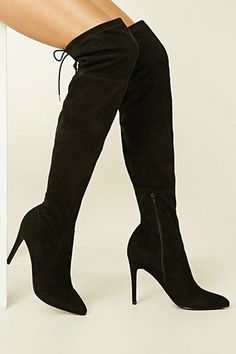 274a9d4e51f Faux Suede Over-The-Knee Boots Going Out