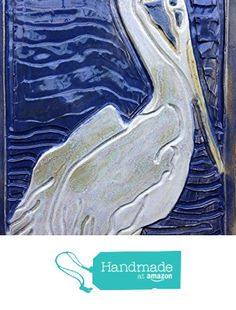 Large Pelican Tile from Littoral Drift http://www.amazon.com/dp/B01D8YJZWI/ref=hnd_sw_r_pi_dp_zSD8wb1P0DC25 #handmadeatamazon