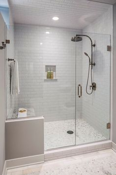 See great bathroom shower remodel ideas from homeowners who have successfully tackled this popular project. Read to learn more about all the planning that goes into a shower remodel and how to decide whether to do the work yourself or hire a professional. Small Bathroom With Shower, Modern Bathroom, Master Bathroom, Master Shower, Bathroom Showers, Small Bathrooms, Shower Rooms, Budget Bathroom, Bathroom Mold