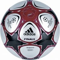 The adidas Fianle 9 Champions League competition ball features  Hand stitched polyester, cotton, PU to ensure the Finale 9 Sportivo ball has high durability and good touch.