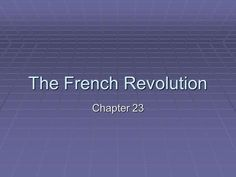 The French Revolution Chapter 23.> French Revolution, Weather, Weather Crafts