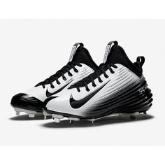 Nike Lunar Vapor Trout Metal Cleats Baseball Softball Black Size 11 NEW  Flywire