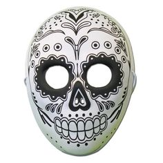 This Day of the Dead masquerade mask with a cross design is the perfect item to complete your festival outfit. It is a made from a soft rubber half mask she. Funny Halloween Masks, Halloween Circus, Halloween Series, Halloween Skeletons, Spirit Halloween, Phantom Mask, Special Effects Makeup Artist, Day Of The Dead Mask, Opera Mask