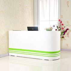 High Quality various design wooden small salon reception desk counter