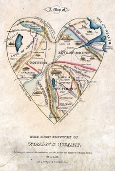 An 1830s Depiction Of What's Inside A Woman's Heart - accurate for me currently
