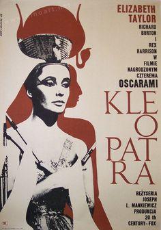 Cleopatra (Joseph L. Mankiewicz, 1963) Polish design by Eryk Lipinski