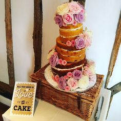 Nicola and Jonathan opted for a fun topsy-turvy cake!
