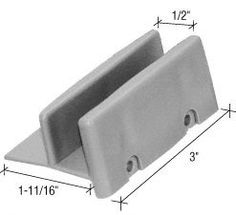 "CRL 1-11/16"" Wide Sliding Shower Door Bottom Guide - Package by CRL. $8.50. Fits 1/2"" (12.7 mm) Thick Doors CRL 1-11/16"" Wide Sliding Shower Door Bottom Guide is a plastic guide for 1/2 inch (12.7 millimeter) door rails. Minimum Order: 1 Package (Comes two per pack.)"