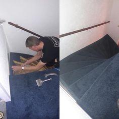 trap renovatie met tapijt Trap