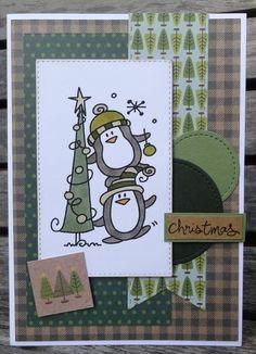 Vandaag is het weer kerstkaartendag, dus ook weer een kerstkaartje op onze blog! Deze keer het kaartje helemaal in groentinten geh...