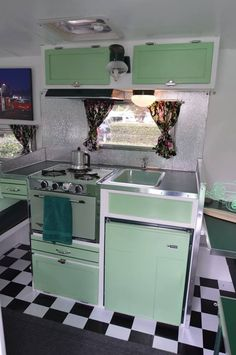38 Best RV Interior Design to Upgrade Your Style Road. Our RV and motorhome design […]. Camper Interior Design, Vintage Camper Interior, Trailer Interior, Vintage Interior Design, Rv Interior, Interior Design Kitchen, Interior Ideas, Retro Trailers, Retro Caravan
