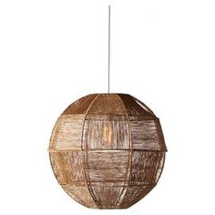 "Pairing contemporary style with natural appeal, this eye-catching pendant showcases a geometric shade crafted with twisted jute fabric.  Product: Mini pendantConstruction Material: Jute and wireColor: NaturalFeatures:Geometric designTwisted juteAccommodates: (1) 60 Watt bulb - not includedDimensions: 20"" Diameter"