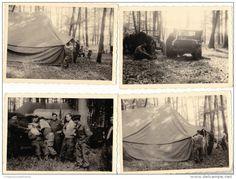 ALLEMAGNE DEUTSCHLAND - FRANCFORT SUR LE MAIN - MANOEUVRES INTERALLIEES - 1955 - LOT DE 4 PHOTOS MILITAIRES 10 X 7.5 CM