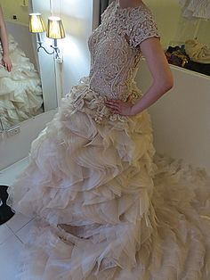 Back buttons Wedding gown bridal gown wedding lace bridal lace with beadwork bac… Wedding Lace, Lace Weddings, Gown Wedding, Bridal Lace, Bridal Gowns, Wedding Dresses, Pageant, Beadwork, High Fashion