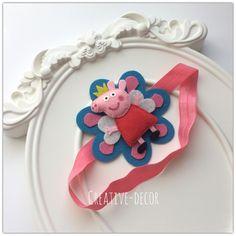 Ободки и повязки на голову - HANDMADE by Katya Tarasova felt peppa pig