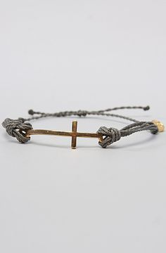 Pura Vida The Cross Charm Bracelet in Grey : MissKL.com - Cutting Edge Women's Fashion, Accessories and Shoes.