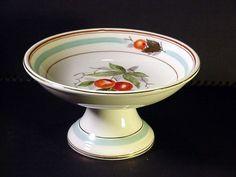 Hand Painted Fruit Compote Footed Bowl Shenango China Albert Pick & Co Chicago  #shenango