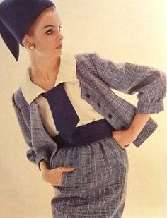"jeanshrimpton: ""  Jean Shrimpton in Vogue UK March 1963 by David Bailey (Scan thanks to Jane Davis) """