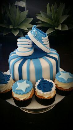 Vanilla cake/ converse cake topper- QD Cupcakes