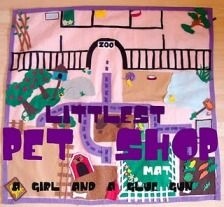 Girl's play mat for Littlest Pet Shops