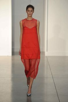Barbara Casasola s/s14. Its both bright and relates to the midi tulle trend.