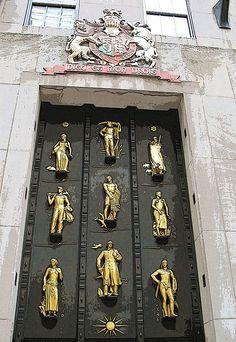 Art Deco door at Rockefeller Plaza.  Rent-Direct.com - No Fee Apartment Rentals in NYC.