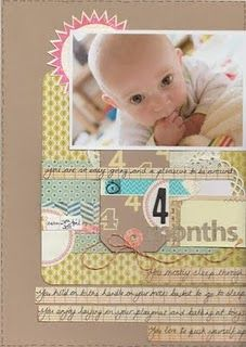4 months baby scrapbook page