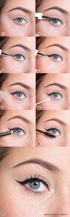 Trendy makeup tips eyeliner liquid liner make up Winged Eyeliner Tricks, Eyeliner Hacks, Eyeliner Ideas, Easy Eyeliner, Eyeliner Liquid, Liquid Liner, Eyeliner Pencil, Liquid Makeup, Eyes
