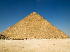 Great Pyramid of Khufu, Egypt. Someday I would like to see this in person.