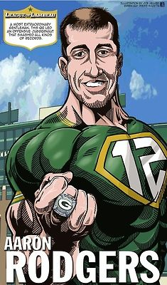 Aaron Rodgers. #leagueoflambeau #nfl #packers #superhero