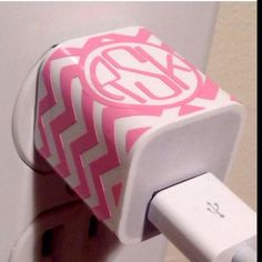 Monogrammed charger