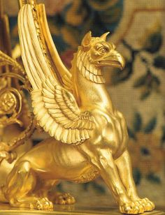 the mythical griffon.go griffons! Sculpture Art, Sculptures, Sphinx, Gold Aesthetic, Ancient Artifacts, Greek Gods, Magical Creatures, Archaeology, Dragons