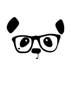 Hipster Panda. Buy this print from Society6.com now.