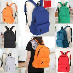 MENS WOMENS Vivid 600D Basic Backpacks Book Bag School Bag Rucksack Satchel -US $17.29