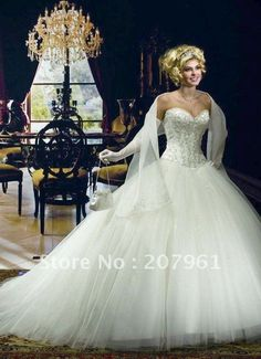 Freeshipping 2012  Wedding dress Bridal Gown dresses  FF1065-in Wedding Dresses from Apparel & Accessories on Aliexpress.com $180.00