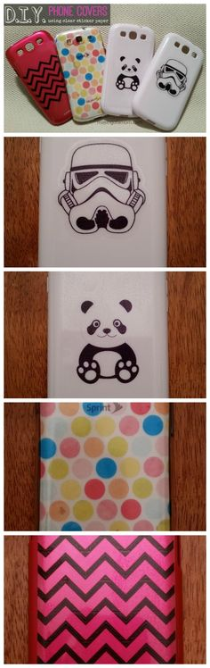 DIY Phone Covers with Silhouette Clear Sticker Paper @Karen Jacot Jacot Boudreau America
