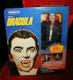 This was so cool, I loved it, his head and hands glowed in the dark,  He didn't look as much like Dracula as the Frankenstein did, but he had real clothes!!! Then my mom made me give it to my little brother. He broke it.