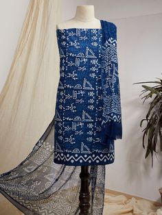 Baby Girl Birthday Dress, Birthday Dresses, Printed Cotton, Printed Shirts, Dabu Print, Indigo Prints, Suit Fabric, Cotton Suit, Surface Pattern Design
