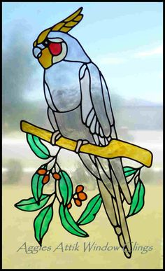 Weero faux leadlight window cling / decal. Hand painted stained glass look, created with Gallery Glass paints.